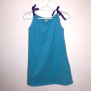 Hanna Andersson Blue Shoulder Tie Dress